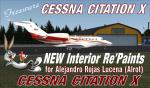 NEW Interior Repaints for Cessna Citation X Freeware from ALROT